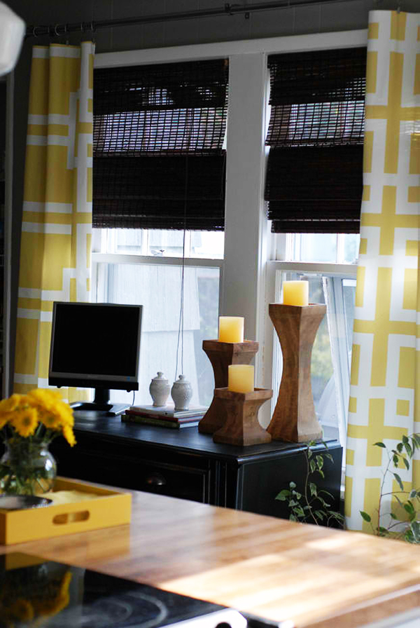gardinen selber n hen arbeitszimmer fensterdeko gardinenideen diy. Black Bedroom Furniture Sets. Home Design Ideas