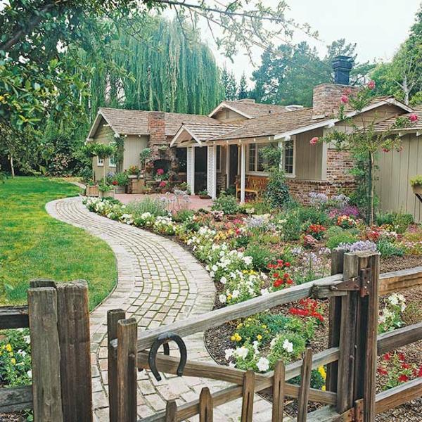 vorgartengestaltung ideen - kreative designideen für ihr exterieur, Hause und garten