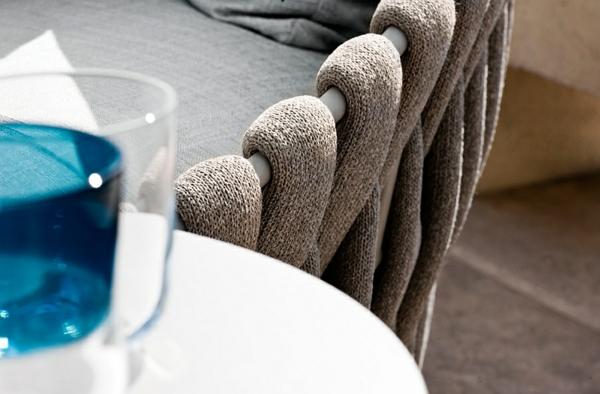 gartendeko lounge möbel outdoor moderne sessel plüsch designideen