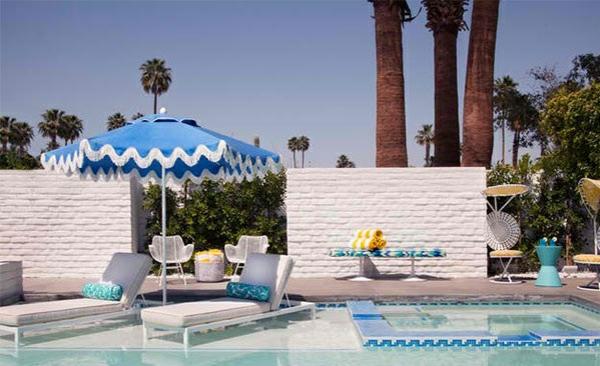 gartenpool möbel relax liegestühle sonnenschirm loungesessel