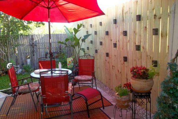Gartenzaun Gartengestaltung Gartensichtschutz Lounge Gartenmöbel