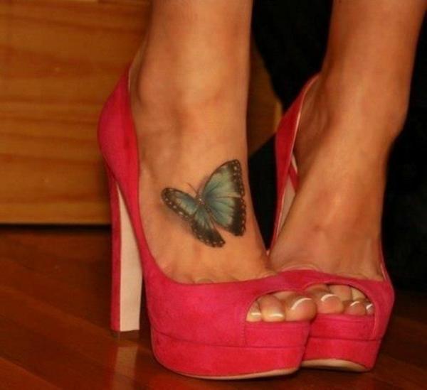 tattoos 3d am fuß schmetterling tattoo