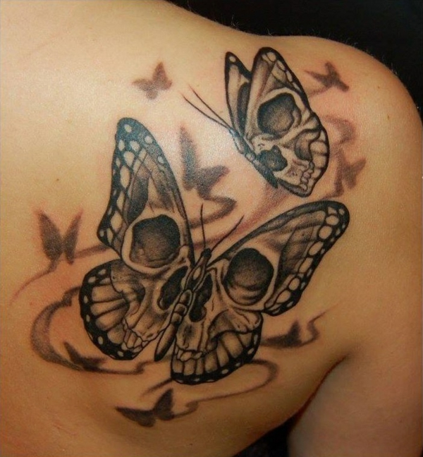 tattoos tattoo schmetterlinge totenkopf