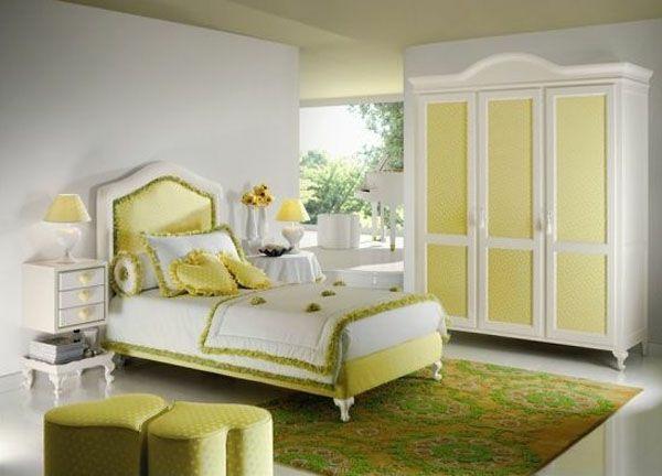 jugendzimmer für mädchen grüne möbel