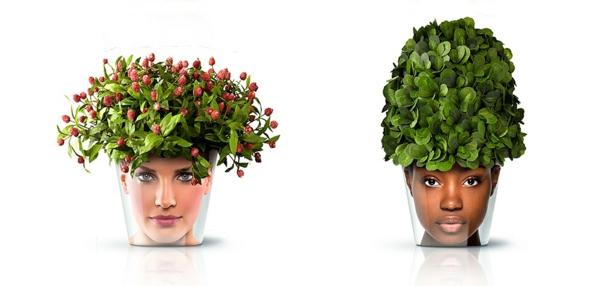 gesicht blumenkübel moderne pflanzgefäße deko ideen good design ideen zimmerpflanzen