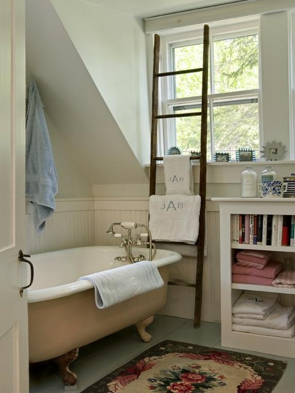 handtuchleiter holz bedezimmer möbel badezimmer einrichten rustikal