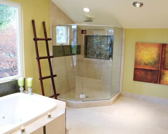 handtuchleiter holz bedezimmer möbel dusche einbauwanne wandfarbe