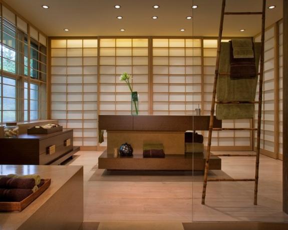 handtuchleiter holz bedezimmer möbel nachhaltiges design bambus im japamischen stil