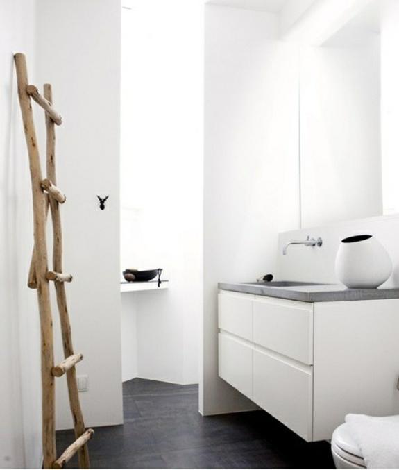 Handtuchleiter holz 35 reizende badezimmer im landhausstil - Kleine badkamer zen ...