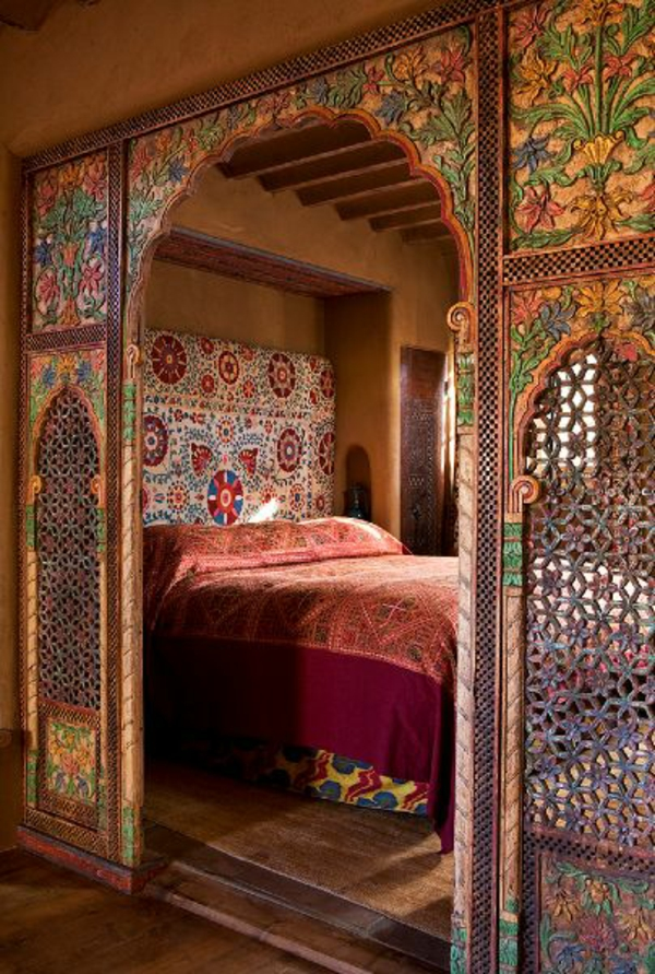 Elegant Orientalisches Schlafzimmer Marrokanisch Bett