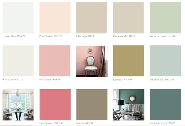 inspirierende farbtabelle wandfarben wände streichen benjamin moore farben