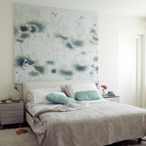 schlafzimmer stil feng shui wand art