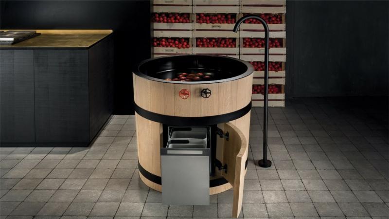italienische-küchenmöbel-holzfass-küchenspüle-unterschrank-stauraum-Minacciolo-Tinozza