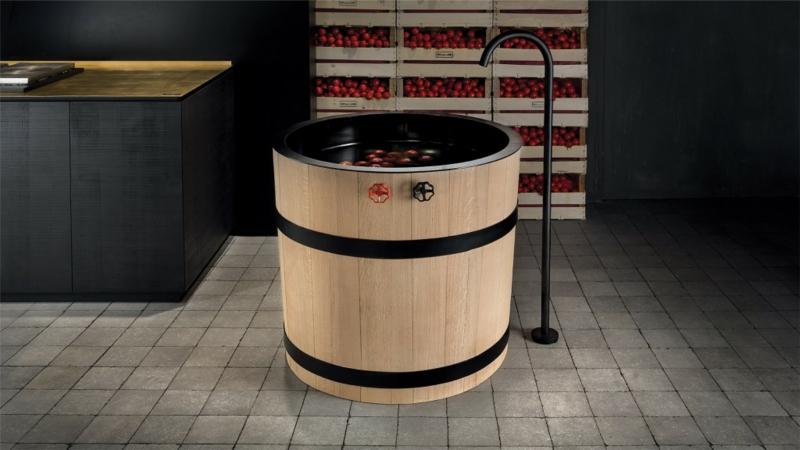italienische-küchenmöbel-weinfass-design-küchenspüle-Minacciolo-Tinozza