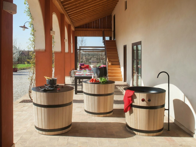 italienische outdoor küche terrassengestaltung Minacciolo Tinozza