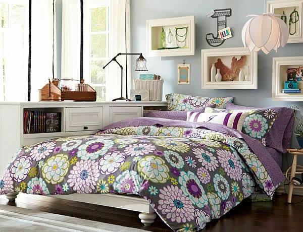 jugendzimmer mädchen lila inspiration