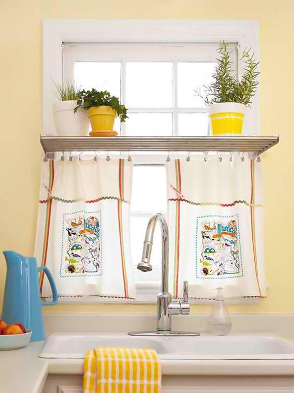 küchengardinen fenster sichtschutz deko gardinen selber nähen