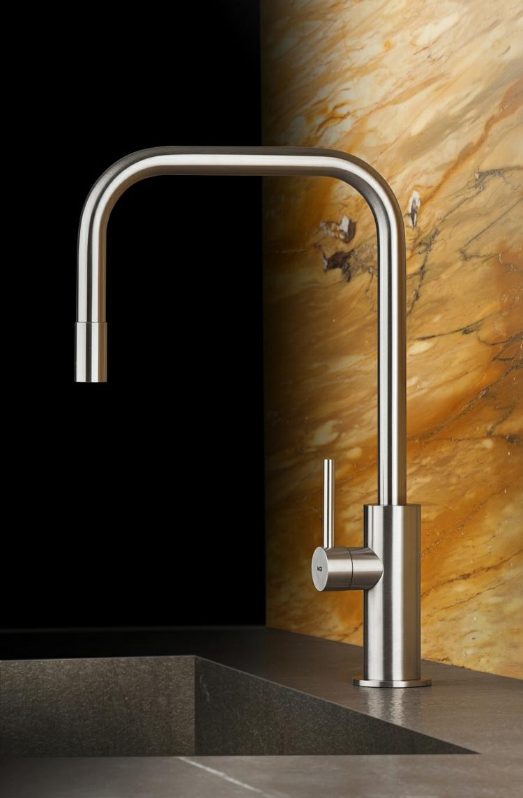 küchenspüle edelstahl küchenarmatur moderne küche wasserhahn granit arbeitsplatte