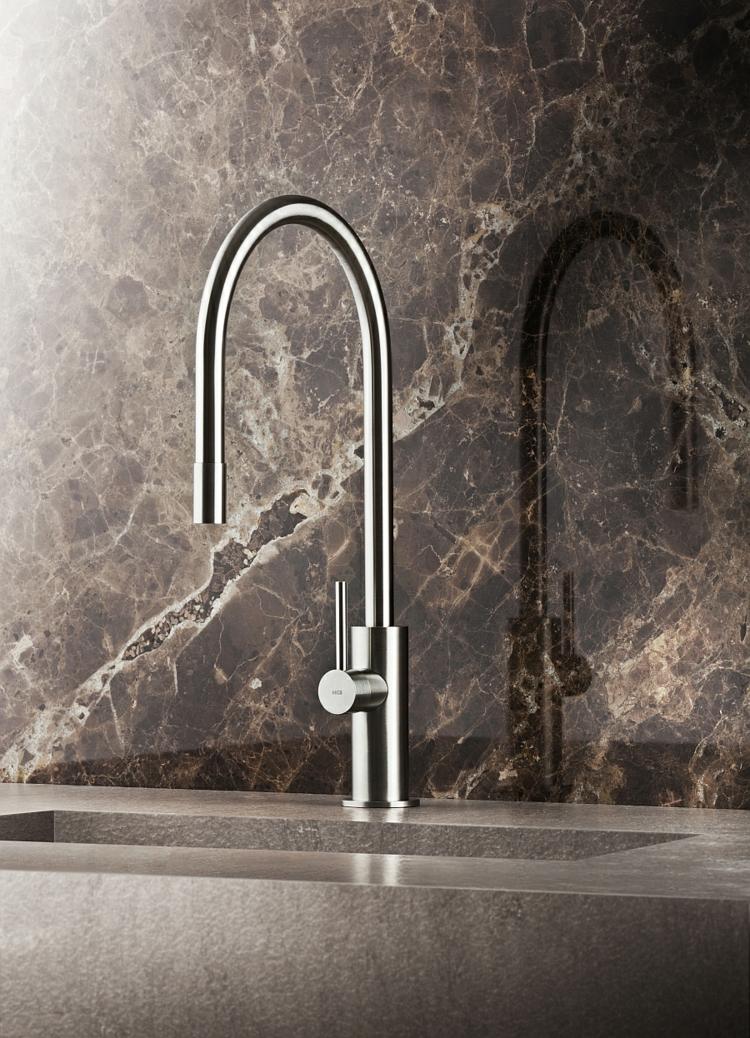 edelstahl küchenspüle küchenarmatur wasserhahn granit arbeitsplatte
