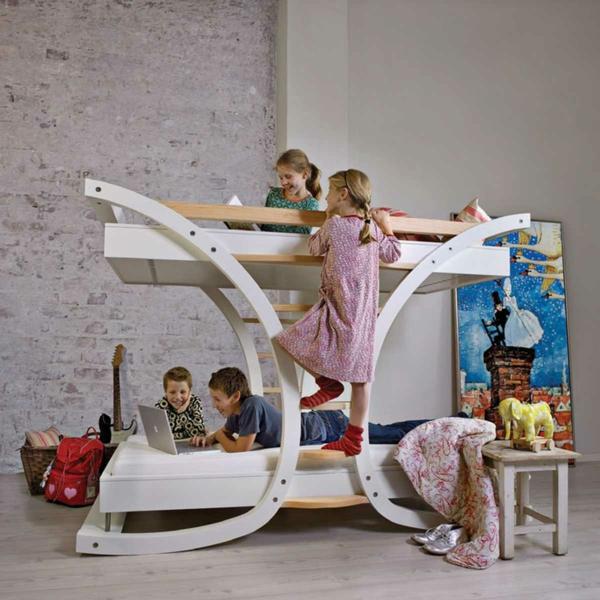 Kinder Etagenbett  Bilder Jugendzimmer Baby Ausstellen Hochbett Im  Kinderzimmer U2013 100 Coole Etagenbetten Für Kinder ...
