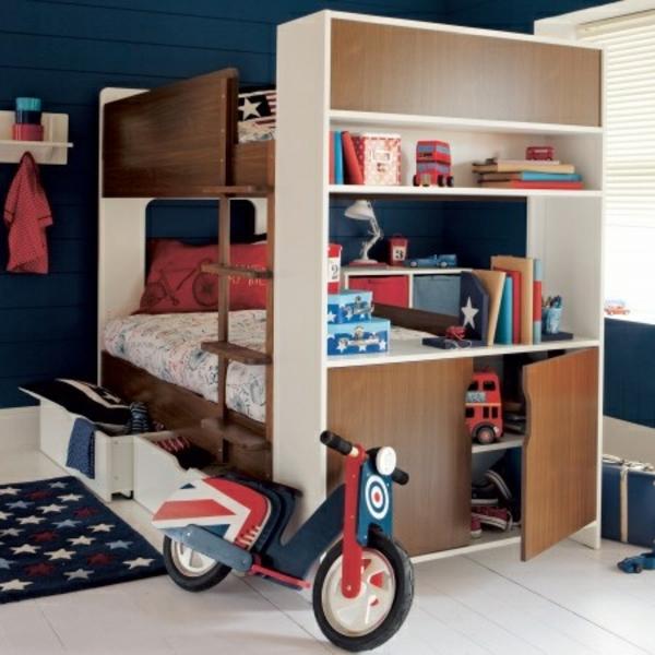 Kinder Etagenbett  Bilder Jugendzimmer Baby Fahrrad Hochbett Im  Kinderzimmer U2013 100 Coole Etagenbetten Für Kinder ...