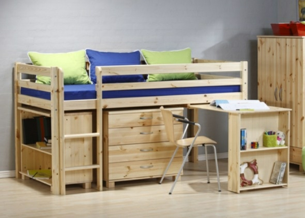 hochbett im kinderzimmer  coole etagenbetten fuer kinder