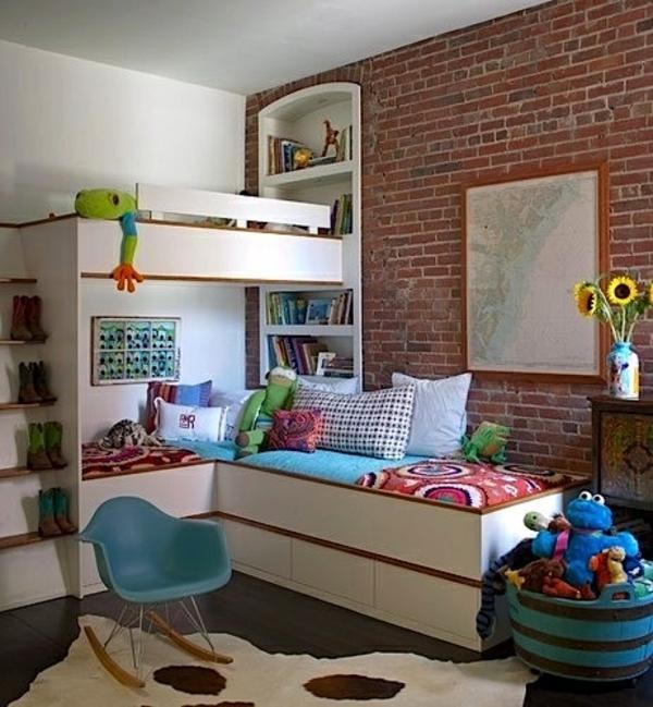 Hochbett im kinderzimmer 100 coole etagenbetten f r kinder - Jugendzimmer platzsparend ...