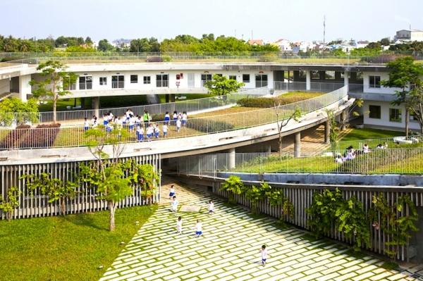 kindergarten heute grünes design vietnam moderne architektur