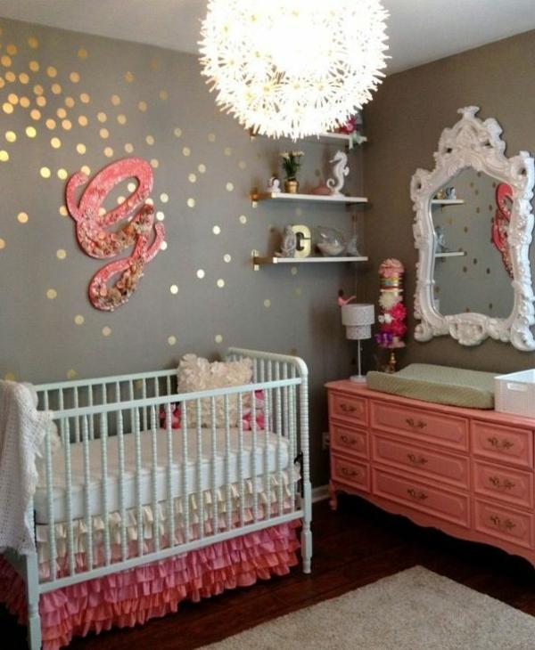 kinderzimmer beleuchtung babywiege wanddeko