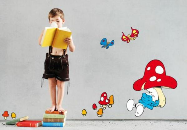 kinderzimmer wandtattoos die schlüpfe pilzen kreative wandgestaltung