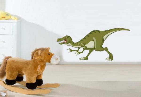 kinderzimmer wandtattoos dinosaurier kreative wandgestaltung