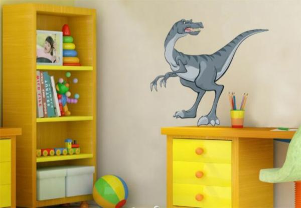 kinderzimmer wandtattoos dinosaurier lernecke gestalten kreative wandgestaltung