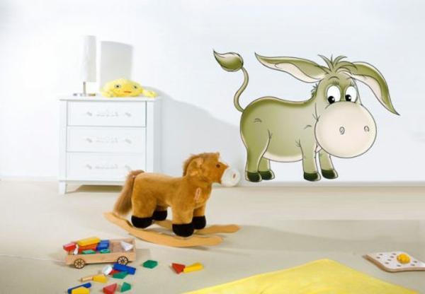 kinderzimmer wandtattoos esel kreative wandgestaltung