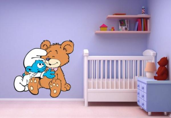 kinderzimmer wandtattoos schlüpf teddy kreative wandgestaltung