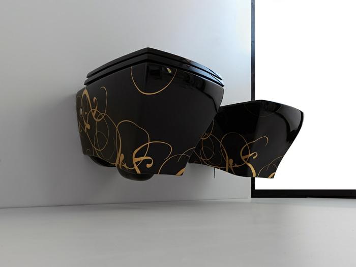 kleines badezimmer einrichten moderne badezimmer möbel schwarz goldakzente