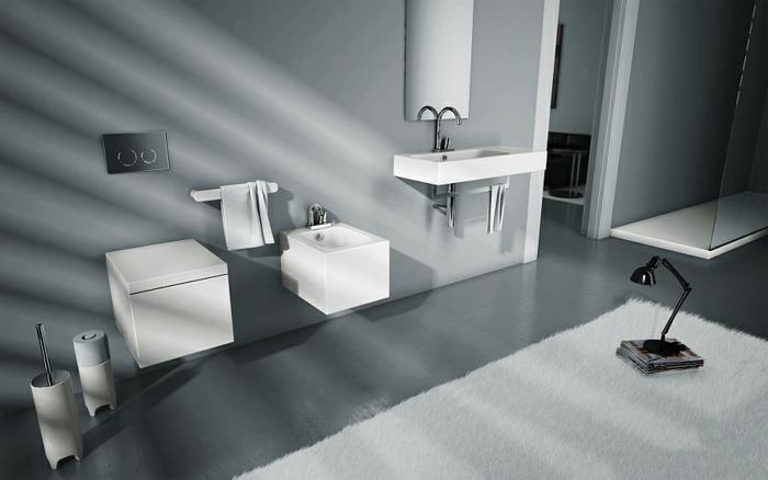 kleines badezimmer platzsparende wandgestaltung sanitäranlagen