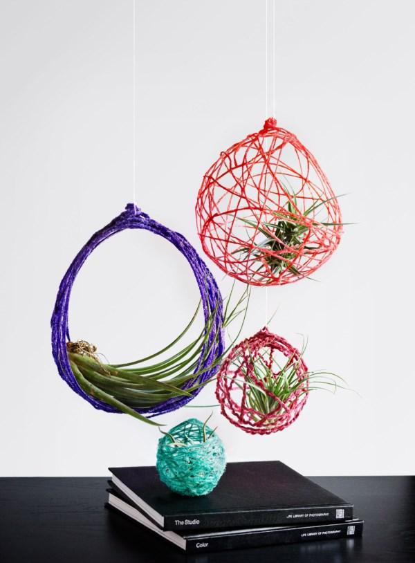 kreative bastelideen hängende pflanzen hängepflanzen balkon