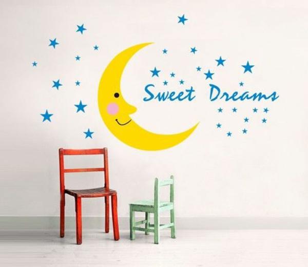 kreative wandgestaltung kinderzimmer wandtattoos ideen gute nacht