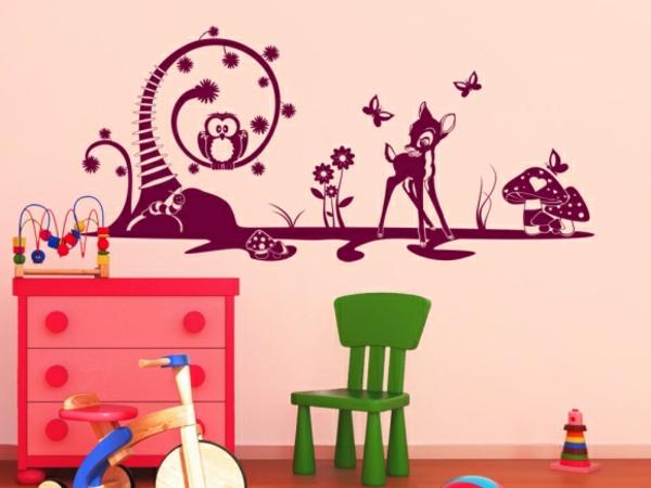 kreative wandgestaltung wandtattoo kinderzimmer gestalten