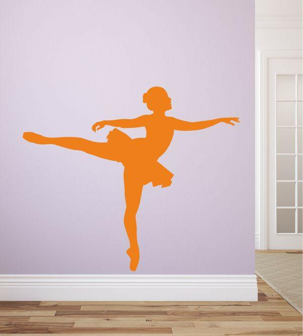 kreative wandgestaltung wandtattoo kinderzimmer kinderträume ballett tänzerin