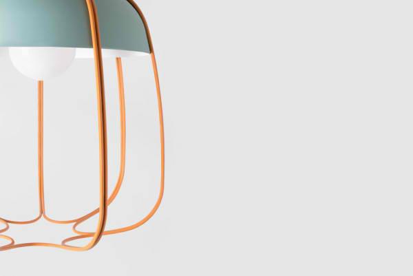 lampen und leuchten designer hängeleuchten blau orange Tull leuchten Tommaso Caldera