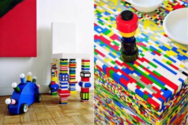 k chenblock aus legosteinen und lebensgro e designer lego figuren. Black Bedroom Furniture Sets. Home Design Ideas