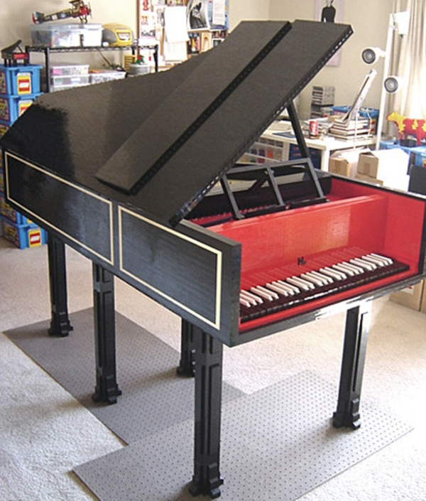 Küchenblock aus Legosteinen figuren diy kreativ piano