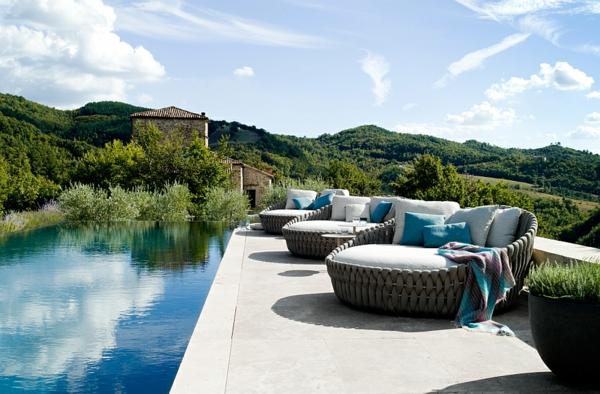 lounge möbel outdoor loungebetten gepolstert pool