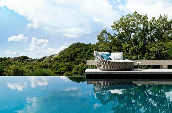 lounge möbel outdoor toscana loungebetten holzterrasse