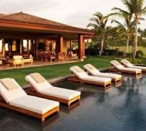 Relax Liegestuhl im Poolbereich – 15 Ideen für moderne Lounge Möbel