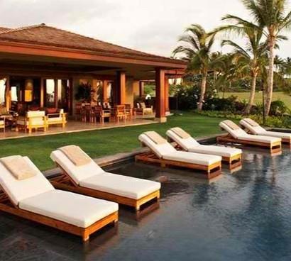 Lounge Moebel Outdoor Ideen : Relax Liegestuhl In Poolbereichen Ideen F R  Moderne Lounge M