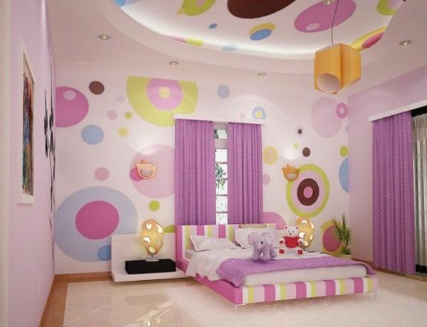 Jugendzimmer Mädchen Dekorative Decke Lila