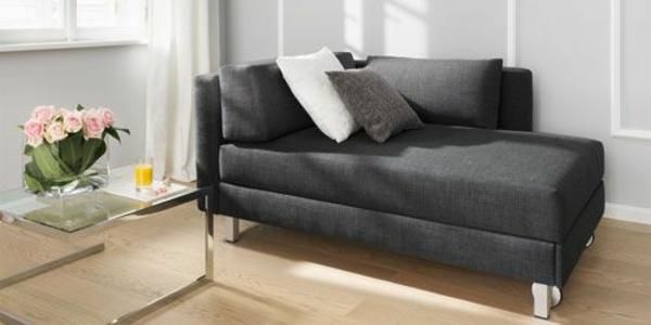 möbel chaiselongue sofa schwarz wohnzimmer