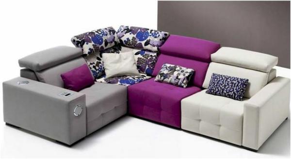 scheselong sofa farbig dekokissen
